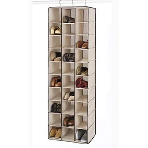 30 Compartment shoe hanging organizer rack
